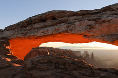 Sunrise at Mesa Arch Stock Photos