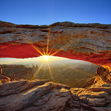 Sunrise, Mesa Arch. Sunrise at Mesa Arch in Canyonlands National Park, Utah, USA Stock Image