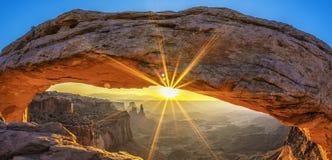 Sunrise at Mesa Arch. In Canyonlands National Park near Moab, Utah, USA Royalty Free Stock Image