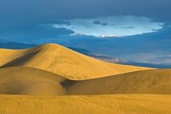 Sunrise on Mesquite Flat Sand Dunes Royalty Free Stock Image