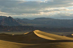 Sunrise on Mesquite Flat Sand Dunes Stock Images