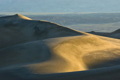 Sunrise on Mesquite Flat Sand Dunes Royalty Free Stock Photos
