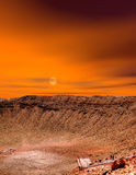 Sunrise Meteor Crater Royalty Free Stock Images