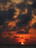 Sunrise at Mexican Sian Ka'an Caribbean Sea Royalty Free Stock Photos
