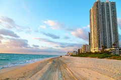 Sunrise at Miami Beach, Florida. Royalty Free Stock Image