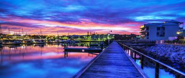 Sunrise Mindari marina, perth, Australia stock image