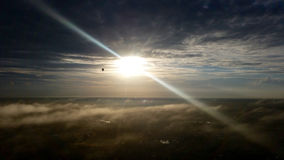 Sunrise Mist. After sunrise above the mist layer Royalty Free Stock Photography