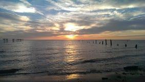 Sunrise. Mobile Bay Alabama royalty free stock image