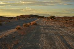 Sunrise Mojave desert Nevada town of Pahrump. Stock Photography