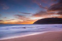 Sunrise at Moloa'a Beach, Kauai, Hawaii Royalty Free Stock Photo