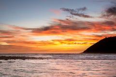 Sunrise at Moloa'a Beach, Kauai, Hawaii Stock Image
