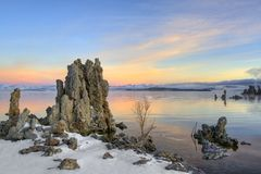 Sunrise at Mono Lake Stock Photography