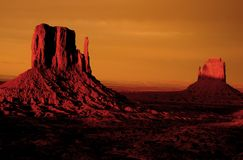 Sunrise at Monument Valley Stock Images