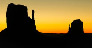 Sunrise at Monument Valley Royalty Free Stock Photos
