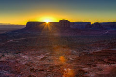 Sunrise at monument valley, navajo nation Stock Images