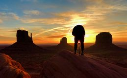 Sunrise on Monument Valley royalty free stock image