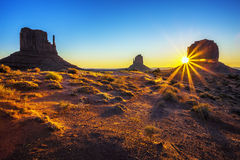 Sunrise at Monument Valley Royalty Free Stock Image