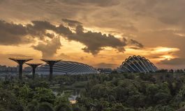 Sunrise in the morning at Singapore Royalty Free Stock Photos