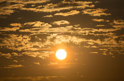 Sunrise in the morning. Sunrise on the sky in the morning Royalty Free Stock Images