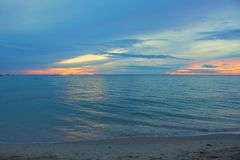 Sunrise morning time before. Colorful sky and water Royalty Free Stock Photos