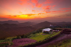 Sunrise morning in the valley Thailand Royalty Free Stock Photo