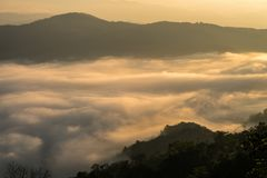 Sunrise mornings landscape , Chiang Mai Thailand Stock Photo
