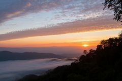 Sunrise mornings landscape , Chiang Mai Thailand Royalty Free Stock Photo