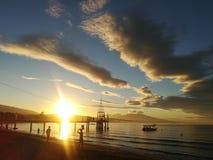 Sunrise at Morong Bataan royalty free stock images