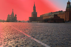 Sunrise in Moscow royalty free stock photo