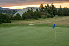 Sunrise Moscow Idaho with golf course and Kibbie dome Stock Photo
