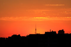 Sunrise in Moscow Stock Photography