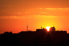 Sunrise in Moscow Royalty Free Stock Image