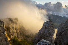 Sunrise on Mount Ai-Petri, Crimea, Ukraine Stock Photo