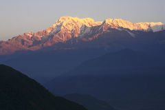 Sunrise at Mount Annapurna, Nepal Stock Image