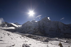 Sunrise at mount everest nepal Royalty Free Stock Images