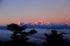 Sunrise In Mount Kanchanjunga. Stock Images