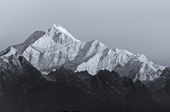 Sunrise on Mount Kanchenjugha, at Dawn, Sikkim Stock Images