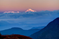 Sunrise on Mount Kanchenjugha, at Dawn, Sikkim Royalty Free Stock Photo