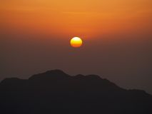 Sunrise on mount Moses. Sunrise from the top of mount Moses Royalty Free Stock Photo