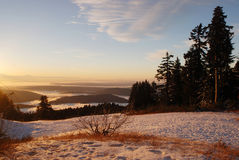 Sunrise at Mount Seymour Royalty Free Stock Photos