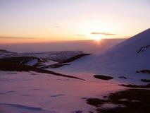 Sunrise in the mountain Stock Photos