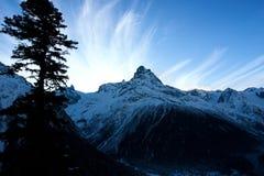 Sunrise into mountain Royalty Free Stock Photos