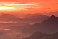 Sunrise at mountain. Stock Image