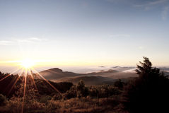Sunrise on the mountain. At chiangmain ,Thailand ,Asia Royalty Free Stock Images