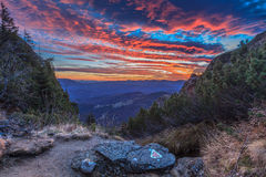 Sunrise at mountain Stock Photography
