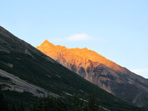 Sunrise mountain,alaska Royalty Free Stock Images