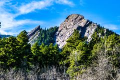 Sunrise in Boulder, Colorado. Sunrise on the mountain in Boulder, Colorado Royalty Free Stock Photo