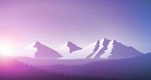 Sunrise in the mountain chain Royalty Free Stock Images