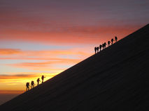 Sunrise Mountain Climbing Royalty Free Stock Photo