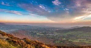 Sunrise Mountain. Sunrise at Great Sugar Loaf Mountain, County Wcklow, Ireland Royalty Free Stock Photos
